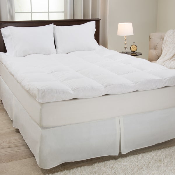 Windsor Home White Cotton Down and Featherbed (As Is Item)