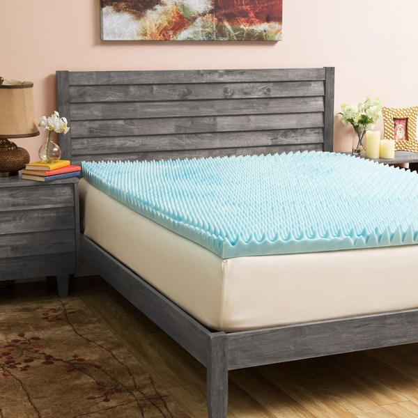 Slumber Solutions Gel Highloft 4-inch Memory Foam Mattress Topper with Cover (As Is Item)