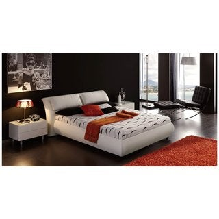 Luca Home White Queen-Sized 3-piece Bedroom Set