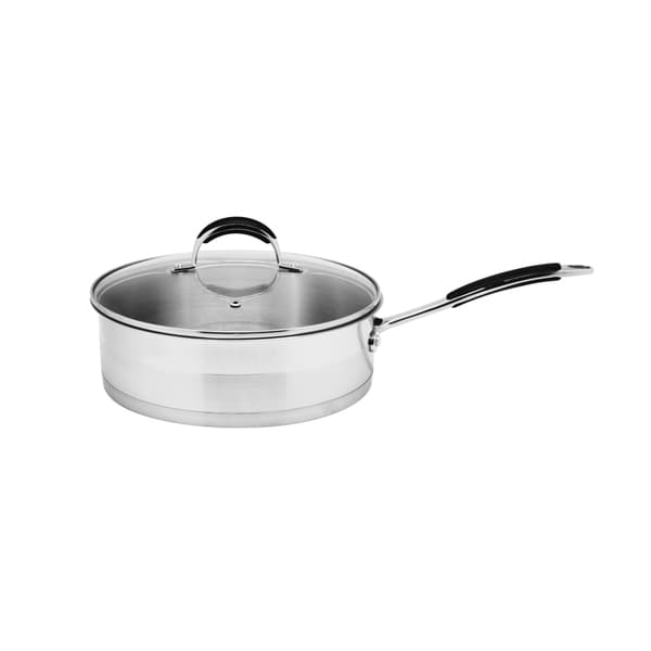 Stainless Steel 3.5-Quart Saute Pan with Glass Lid