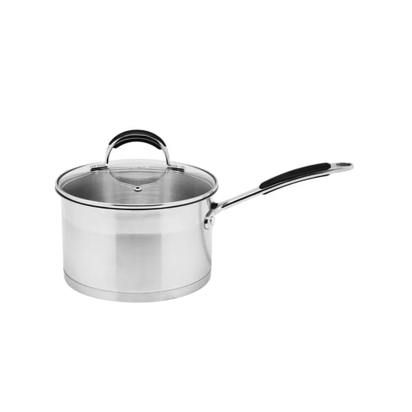 Stainless Steel 2.6-quart Saucepan with Glass Lid