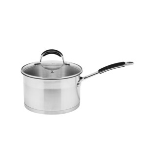 Prime Cook Stainless Steel 2.6-quart Saucepan with Glass Lid