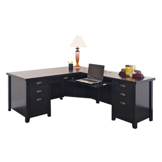 Tansley Landing Black 68-inch L-shaped Desk