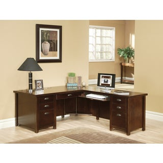 Tansley Landing Cherry Right 68-inch L-Shaped Desk