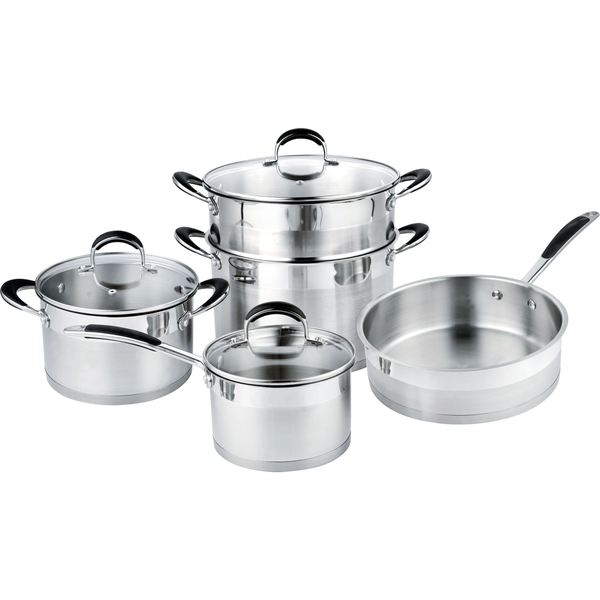 Prime cook stainless steel 8 piece cookset 18184255 for Abruzzo 12 piece cookware set from cuisine select