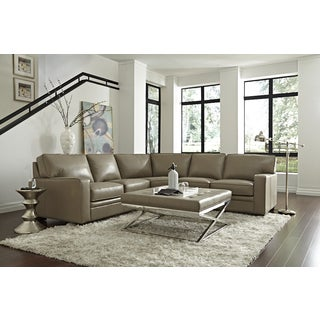 Lazzaro Leather Lona Adobe Sectional Sofa