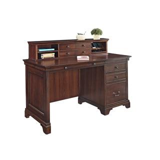 "Mulberry 54"" Single Pedestal Desk & Hutch"