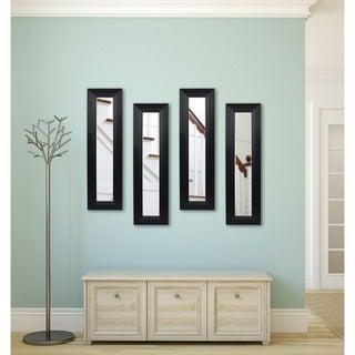 American Made Rayne Solid Black Angle Mirror Panel