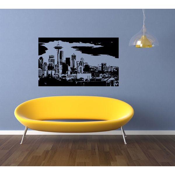 Seattle Skyline City Sights Wall Art Sticker Decal