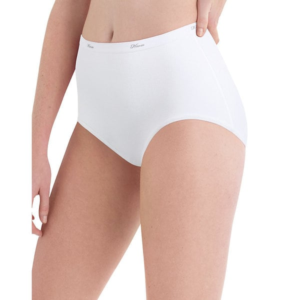 Hanes Women's Cotton White Brief (Pack of 10)