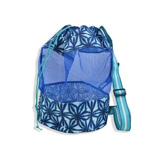 All For Color Indigo Batik Mesh Sling Bag