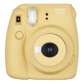 Fujifilm Instax Mini 8+ (Honey) Instant Film Camera + Self Shot Mirror for Selfie Use