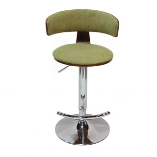 Adeco Yellowgreen Adjustable Plywood Barstool With Fabric