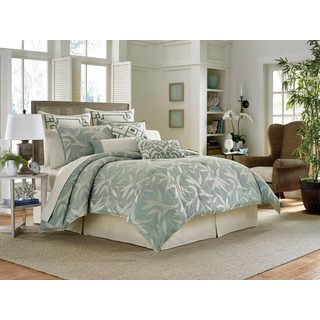 Tommy Bahama Bamboo Breeze Pale Aqua 4-piece Comforter Set