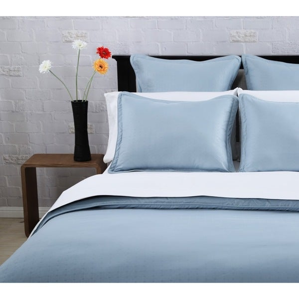Affluence Steel Blue 3-piece Duvet Cover Set