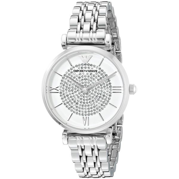 Emporio Armani Women's AR1925 'Retro' Crystal Stainless Steel Watch