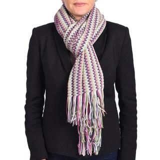 Missoni Pink/ Green Classic Zigzag Knit Scarf