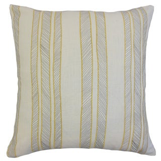 Drum Stripes 18-inch Down and Feather Filled Throw Pillows