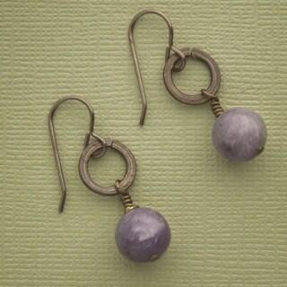 Soaring Lilac Stone Earrings