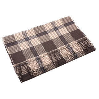 Ermenegildo Zegna Men's Wool Beige Plaid Scarf