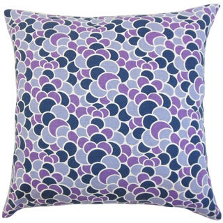 Lily Geometric 18-inch Down and Feather Filled Throw Pillows