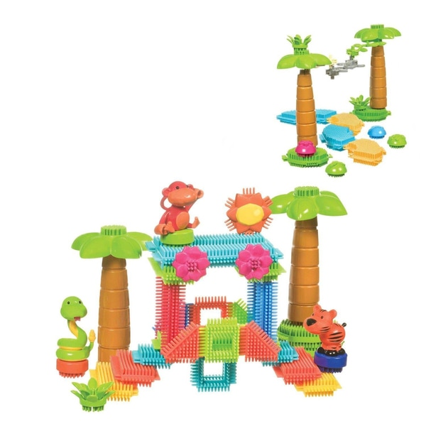 Toysmith Jungle Bristle Blocks Bucket