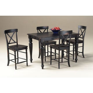 Roanoke Black Hand Rubbed 36 to 54-inch Adjustable Gathering Table