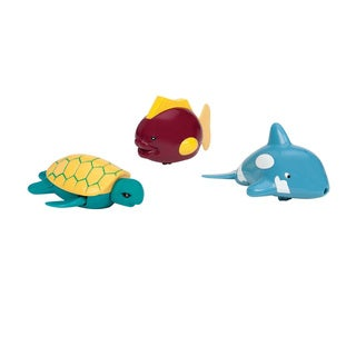 Toysmith Wind-Up Dolphin, Turtle and Fish Tubbies Bathtub Pals