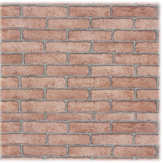 Upscale Designs Brick Pattern Textured Self Adhesive Wall Paper