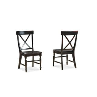 Roanoke Black Hand Rubbed Side Chair (Set of 2)