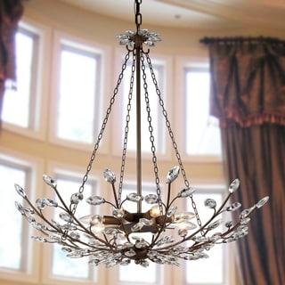 Addie 8-light Crystal 30-inch Antique Bronze Chandelier