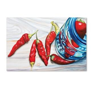 Jennifer Redstreake 'Ball Jar Peppers' Canvas Wall Art