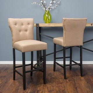 Christopher Knight Home Donner Fabric Barstool (Set of 2)
