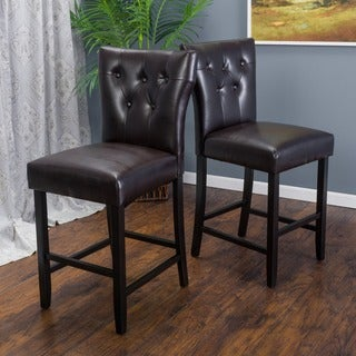 Christopher Knight Home Donner Bonded Leather Counter Stool (Set of 2)