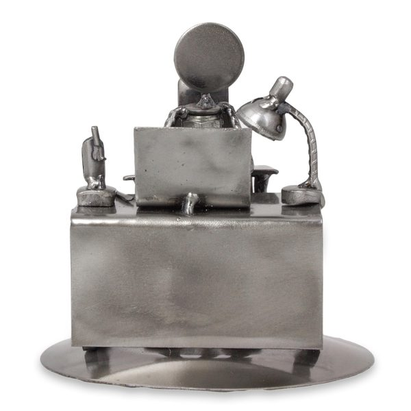 Upcycled Auto Parts 'Hard-working Executive' Statuette (Mexico)