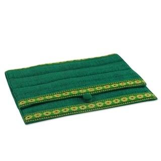 Tussar Silk 'Emerald Elegance' iPad Sleeve (India)