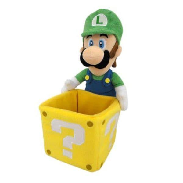 Nintendo 9-inch Super Mario Luigi Coin Box Stuffed Plush Doll Toy for Kids