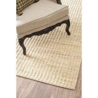 nuLOOM Natural Fiber Solid Handmade Jute/ Cotton Runner Rug (2'6 x 8')