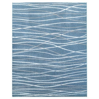 LNR Home Grace LR81125 Teal Rug (7'6 x 9'6)