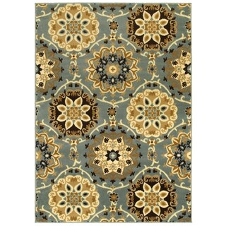 LNR Home Grace LR81127 Blue Rug (7'6 x 9'6)