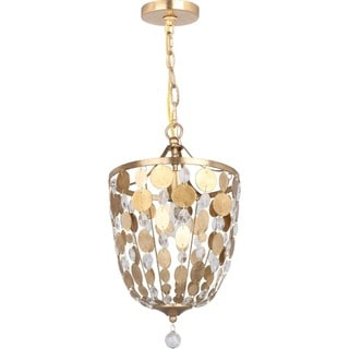 Crystorama Bella Collection 1-light Antique Gold Pendant