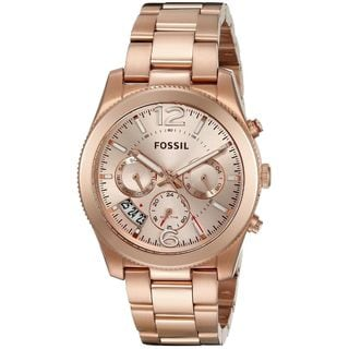 Fossil Women's ES3885 'Perfect Boyfriend' Multi-Function Rose-Tone Stainless Steel Watch