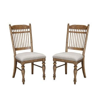 Lake House Brushed Sand Spindleback Dining Chair (Set of 2)
