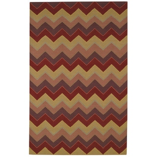 "Williamsburg Irish Stitch Rectangle Flat Woven Rugs (8' x 11' 6"")"