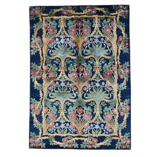 Bamboo Silk Modern Arts and Crafts Handmade Oriental Rug (5'7 x 8')