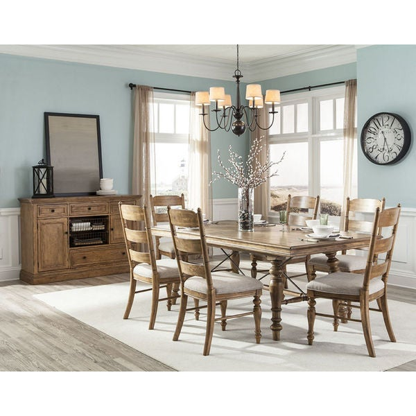 Lake House Brushed Sand Trestle 80 to 104-inch Dinette Table