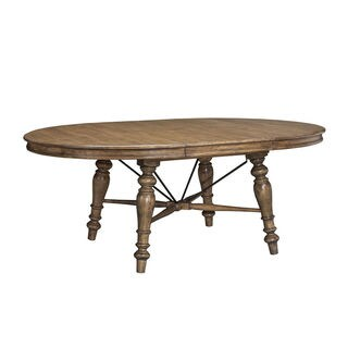 Lake House Brushed Sand Round 54 to 72-inch Dinette Table