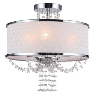 Crystorama Allure Collection 3-light Polished Chrome Flush Mount