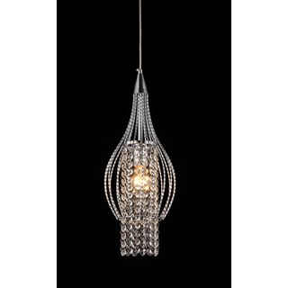 Xyza 1-light Crystal 7.5-inch Chrome-finish Chandelier