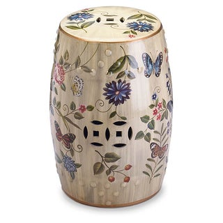 Blossom Garden Ceramic Stool
